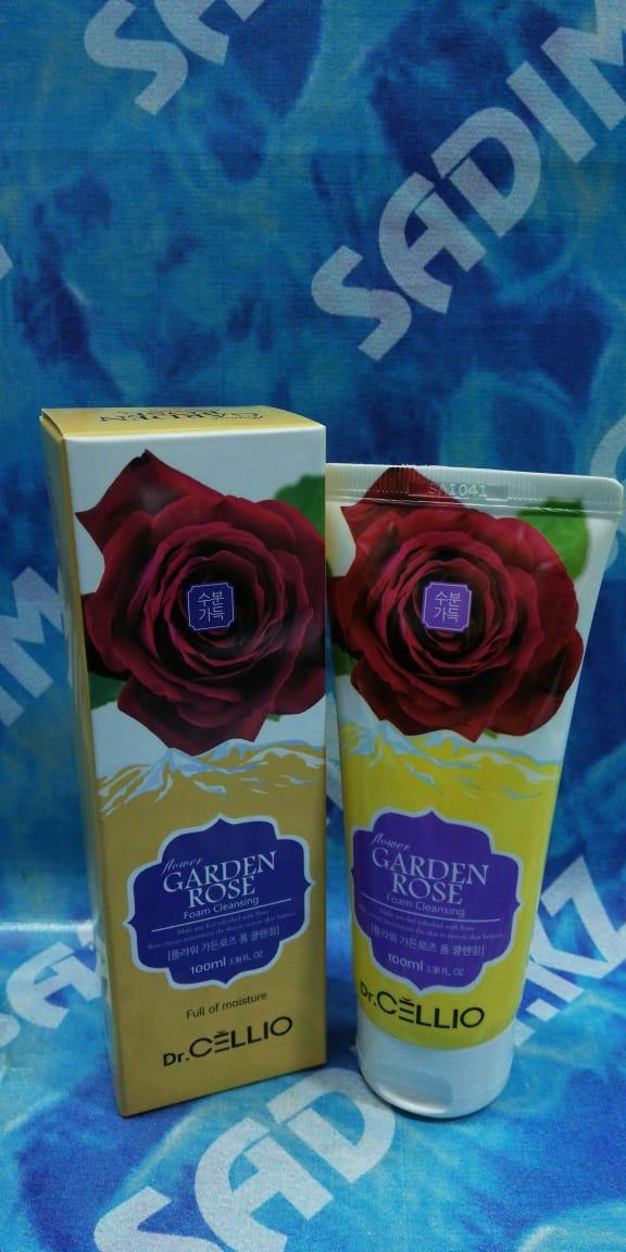 Dr.Cellio Garden Rose Foam Cleansing Full of moisture 100 ml - Очищающая и питающая пенка на основе Розы