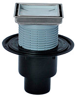 Трап с вертикальным выпуском, с надставным элементом для вклеивания керамической плитки HL310N-3020