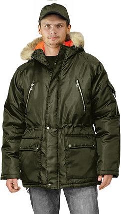 Куртка мужская зимняя хакки удлиненная в Алматы, фото 2