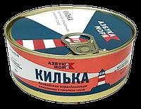 Консервы Килька балтийская не разделаная обжаренная в томатном соусе Азбука моря (ключ) 240 гр*24шт