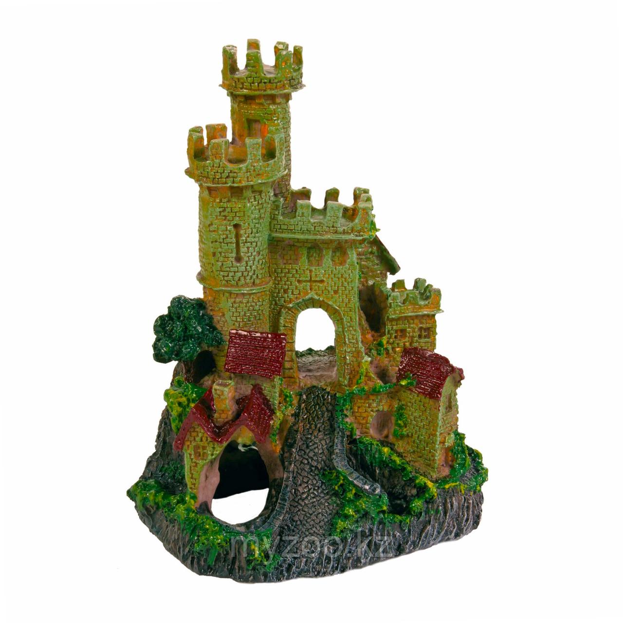 Декорация для аквариума. Замок. Полиэфирная смола,Высота 17сm.