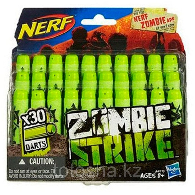 Nerf Zombie Strike Darts х 30 Зомби Страйк 30 стрел для бластера A4570