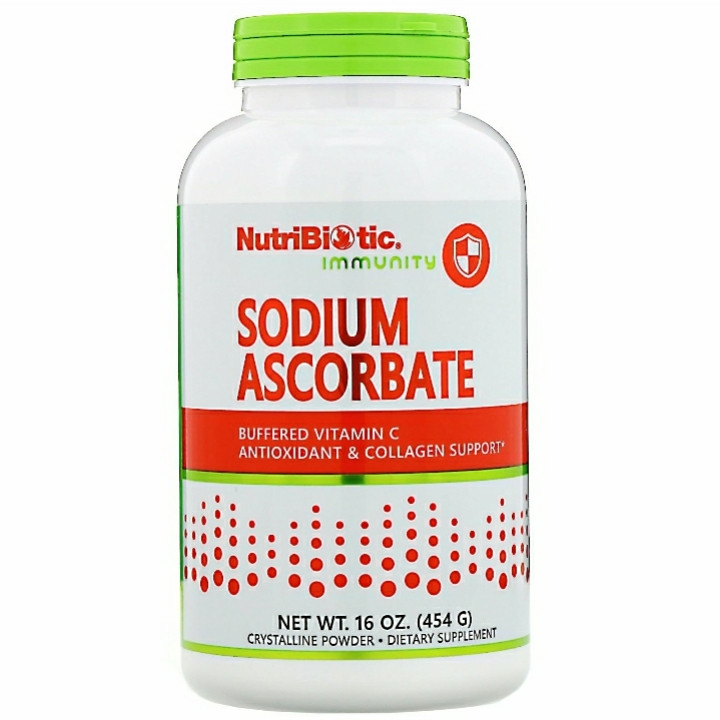 NutriBiotic, Immunity, Sodium Ascorbate, Crystalline Powder, 16 oz (454 g)