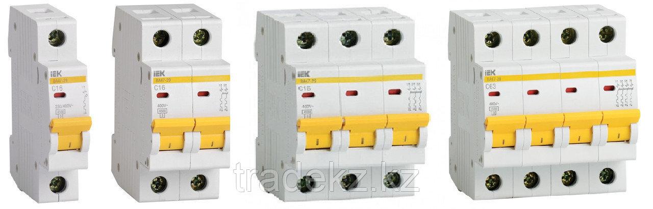 Автоматический выключательВА47-100 2Р 63А 10кА характеристика D ИЭК