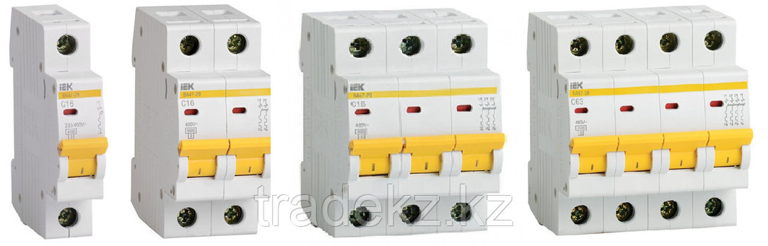 Автоматический выключательВА47-100 3Р 63А 10кА характеристика D ИЭК, фото 2