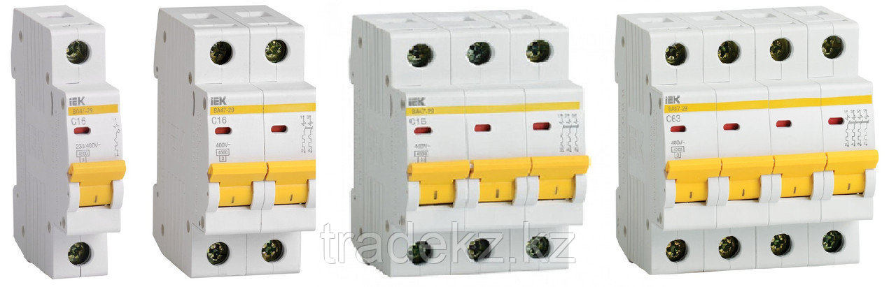 Автоматический выключательВА47-100 4Р  25А 10кА характеристика D ИЭК