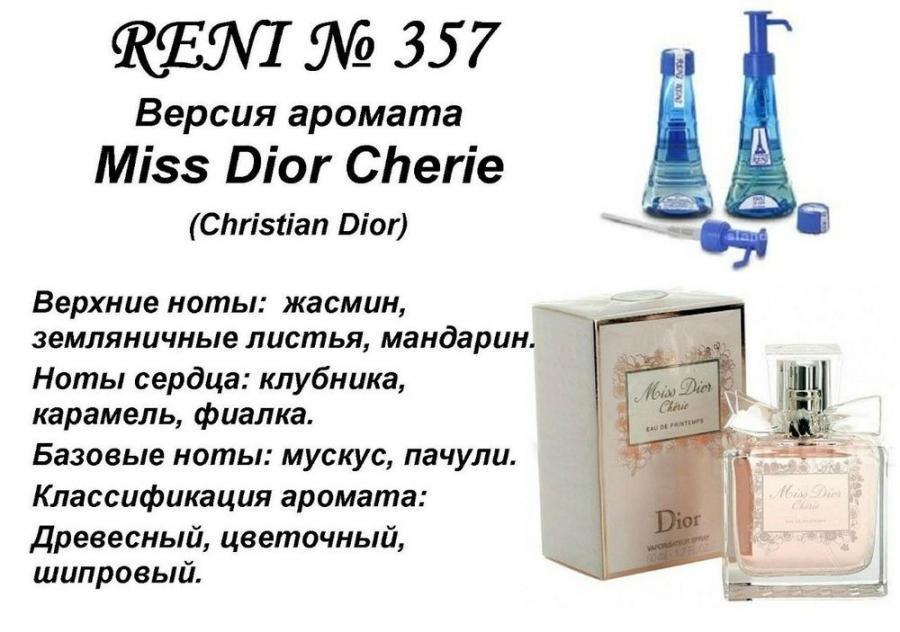 Аромат направление miss dior cherie (christian dior) 100мл