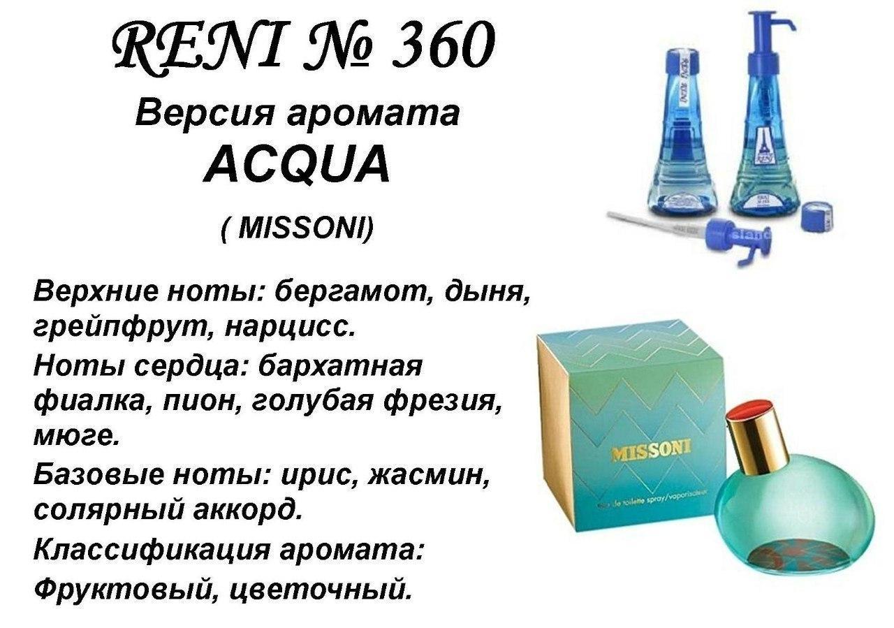 Аромат направление missoni acqua (missoni) 100мл