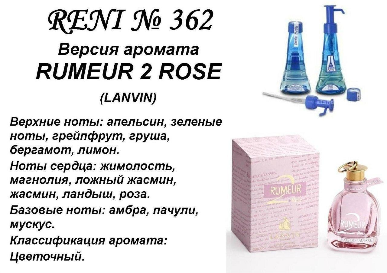 Аромат направление rumeur 2 rose (lanvin) 100мл
