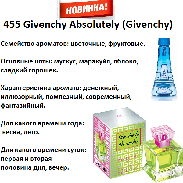 Аромат направление givenchy absolutely (givenchy) 100мл