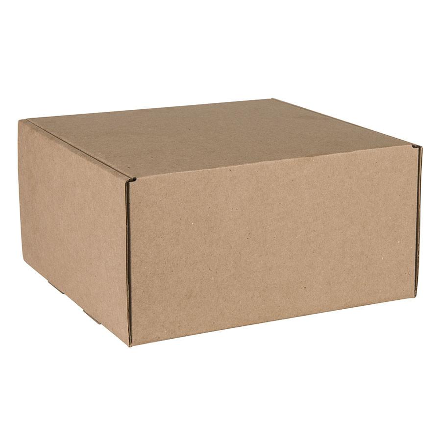 Коробка подарочная BOX, размер 20,5*21* 11см, картон МГК бур., самосборная