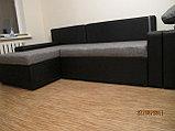 Вариант расцветки  и компановки углового дивана  в комплекте с креслом и пуфиком, фото 2