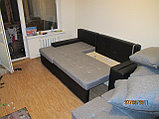 Вариант расцветки  и компановки углового дивана  в комплекте с креслом и пуфиком, фото 3