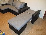 Вариант расцветки  и компановки углового дивана  в комплекте с креслом и пуфиком, фото 5