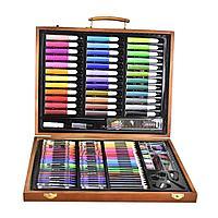 Набор для рисования в деревянном кейсе, 150 предметов