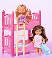 K899-17 CuteGirl Кроватка двухъярусная  2 куклы 22*16см, фото 1