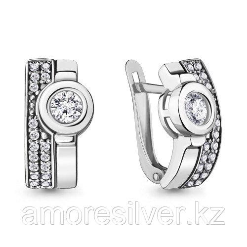 Серебряные серьги с фианитом  Aquamarine 47184А.5