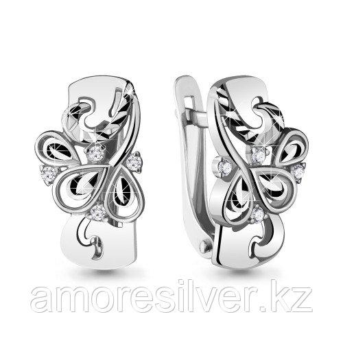 Серебряные серьги с фианитом   Aquamarine 48147А.5
