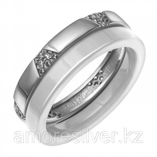 Серебряное кольцо с керамикой и фианитом  Teosa CR-2495-W