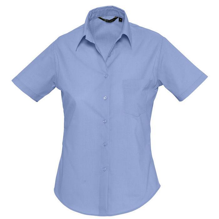 """Рубашка """"Escape"""", васильковый_S, 65% полиэстер, 35% хлопок, 105г/м2"""