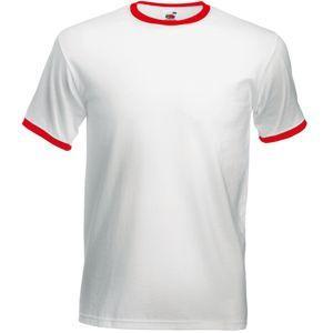 """Футболка """"Ringer T"""", белый с черным_S, 100% х/б, 160 г/м2"""