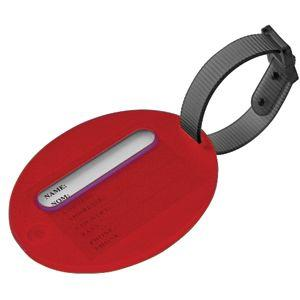Бирка багажная, красный, 7,5х6х1 см, пластик, тампопечать