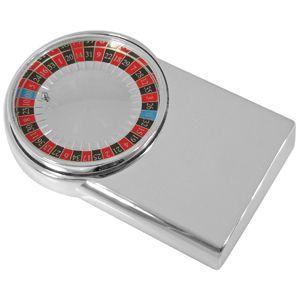 """Игра """"Рулетка"""", 10,3х6,4х1,9 см, посеребренный металл, лазерная гравировка"""
