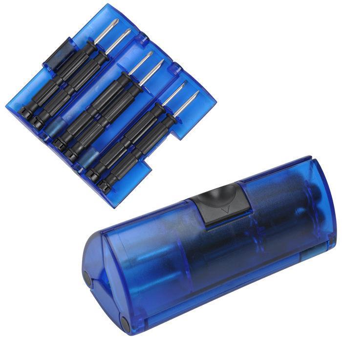 Набор отверток, красный, 9,5х4х4 см, пластик, металл, тампопечать