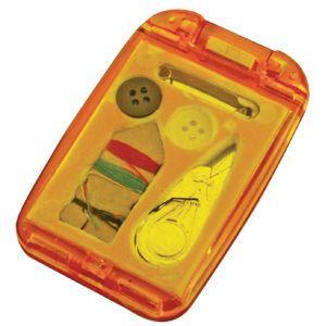 Набор швейный с зеркалом, красный, 7,5х4,9х1 см, пластик, тампопечать