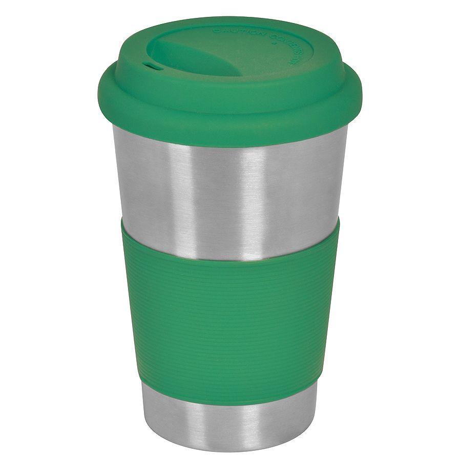 """Термокружка """"Утро"""", 350 мл, зеленый, металл/силикон, лазерная гравировка"""