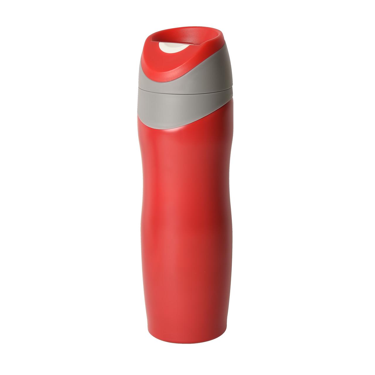 "Термокружка вакуумная ""Trip"", 450 мл, красный, металл/пластик"