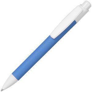 ECO TOUCH, ручка шариковая, голубой, картон/пластик
