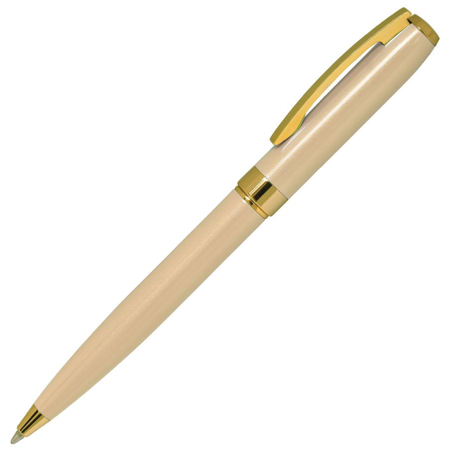 ROYALTY, ручка шариковая, бежевый/золотой, металл, лаковое покрытие