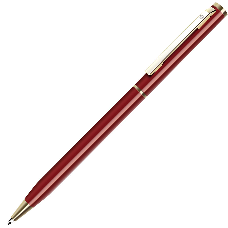 SLIM, ручка шариковая, белый/золотистый, металл