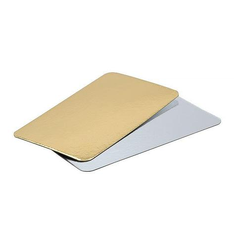 Подложка картон. фольгир. зол./сер. 280х230 мм, 400 шт, фото 2