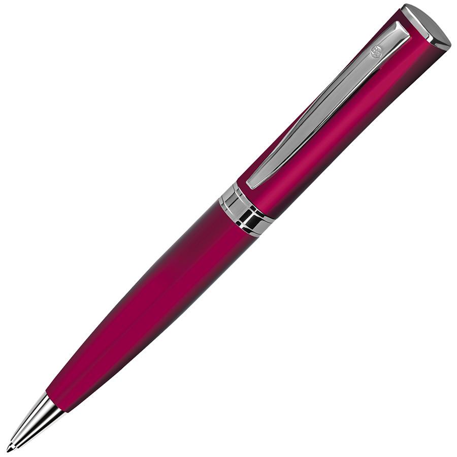 WIZARD, ручка шариковая, красный/хром, металл