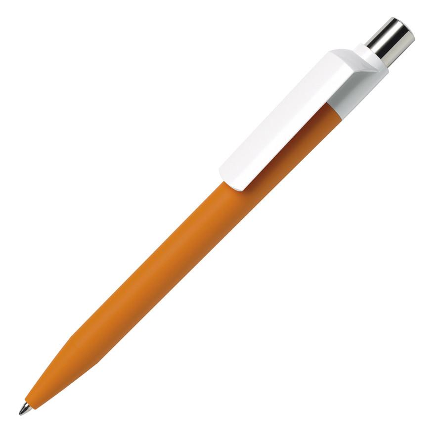 Ручка шариковая DOT, зеленый корпус/белый клип, soft touch покрытие, пластик