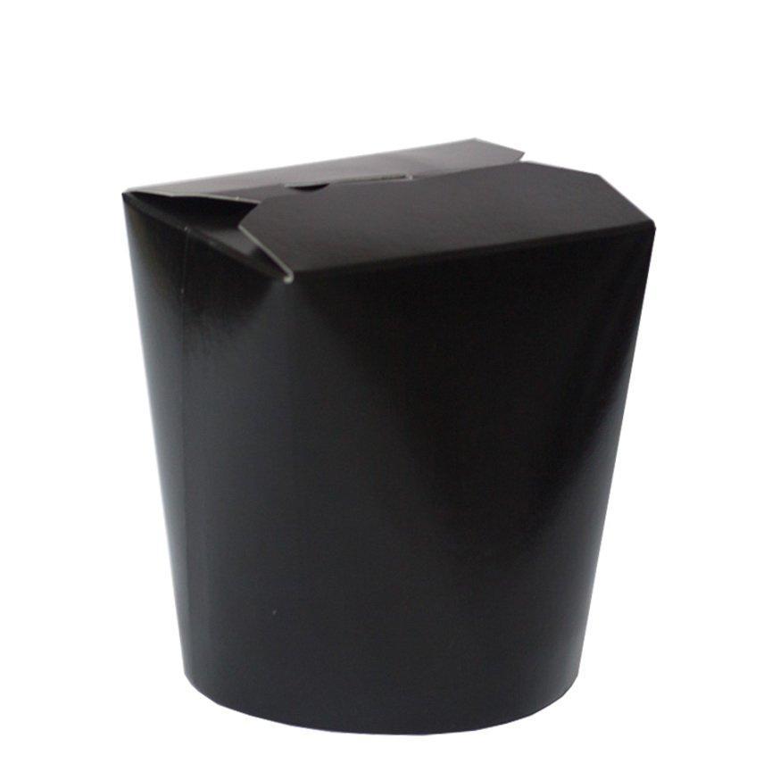 Коробка д/лапши, 700 мл, ЧЕРНЫЙ., картон, 50 шт