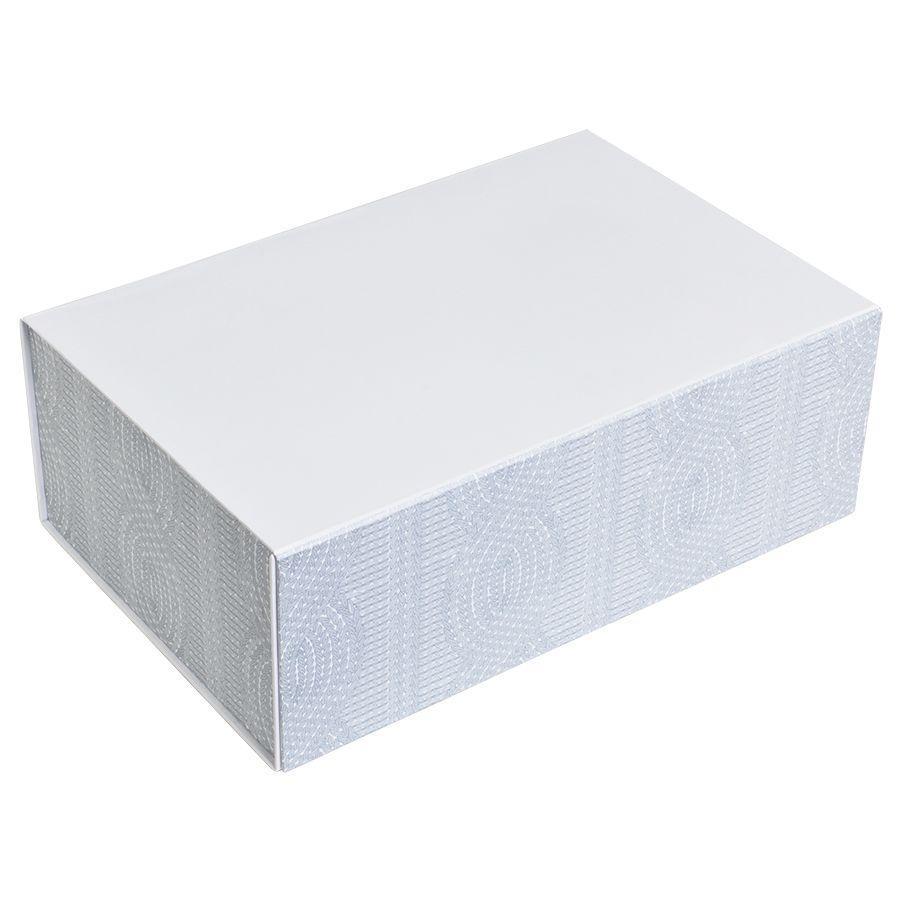 """Коробка подарочная """"Irish"""" складная, белый, 20*30*11 см, кашированный картон, тиснение"""