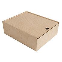 Упаковка подарочная из фанеры, размер 20х8х20см