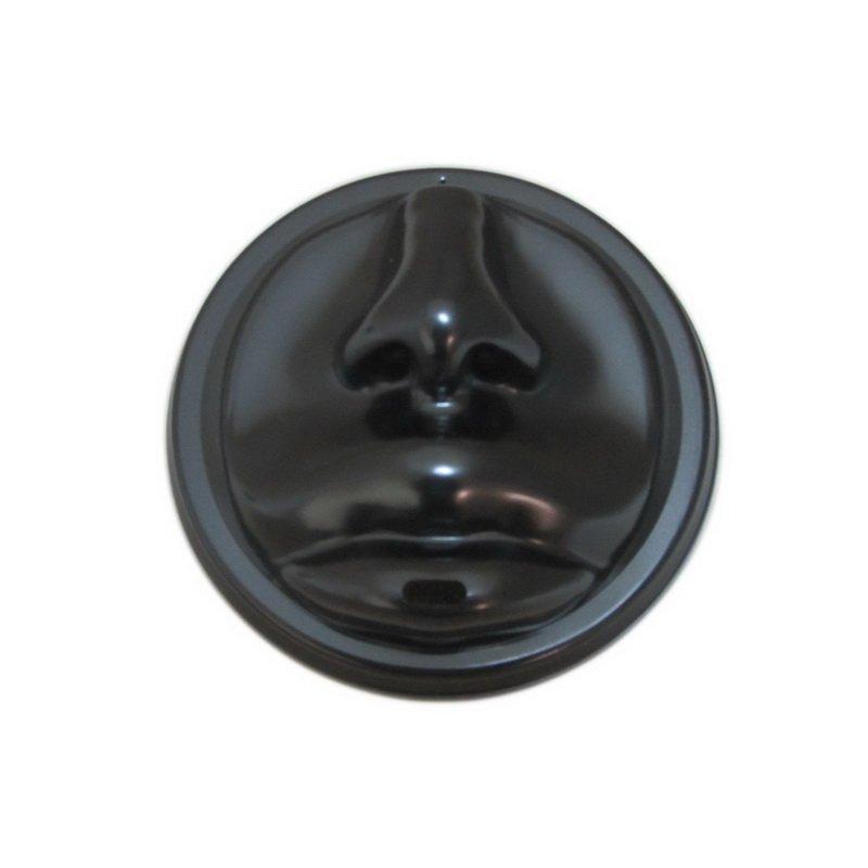 """Крышка д/стаканов, д/хол,/гор, d 90 мм, """"Лицо"""",черн., ПС, 40 шт"""
