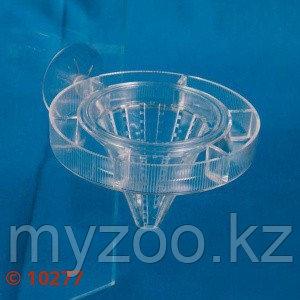Пластиковая кормушка для рыб. Конусообразная,ø 7 cm