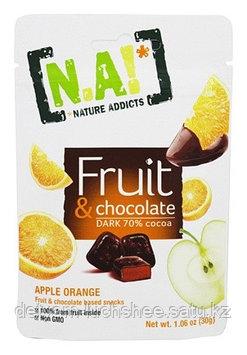 [NA!]_Nature Addicts! Фруктово шоколадная закуска, апельсин, 35 г