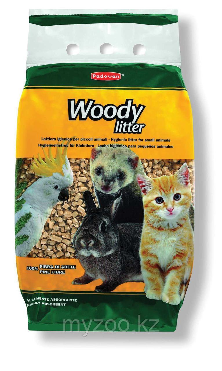 Padovan Наполнитель WOODY litter древесный наполнитель  д/кошек,птиц и мелких домашних животных (5кг/10л)
