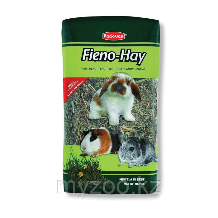 Padovan Сено FIENO-HAY луговые травы д/крупных грызунов (1кг/20л)