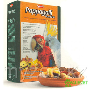 Padovan Корм GRANDMIX Pappagalli комплексный/основной д/крупных попугаев (600г)