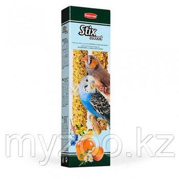Padovan Лакомство STIX SWEET палочки мед/яйцо д/попугаев и экзотических птиц (80г)