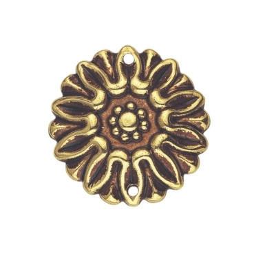 Накладка декоративная, D35мм, латунь пат