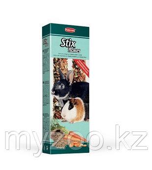 Padovan Лакомство STIX FLAKES coniglietti палочки овощные д/кроликов и морских свинок (100г)