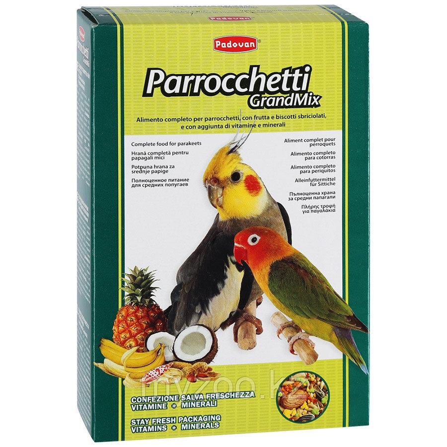 Padovan Корм GRANDMIX Parrocchetti комплексный/основной  д/средних попугаев (400г)